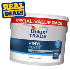 Dulux Trade Vinyl Matt Paint Brilliant White 7.5ltr