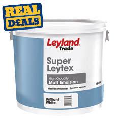 Leyland Trade Super Leytex Matt Paint 15ltr