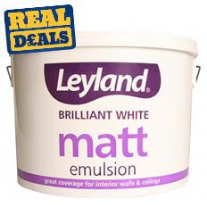 Leyland Brilliant White Matt Emulsion 10Ltr