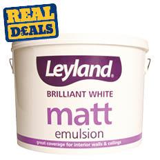 Leyland Matt Emulsion Brilliant White 10Ltr